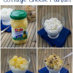 Pineapple Cottage Cheese Parfait
