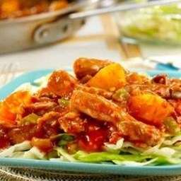 Pineapple-Picante Stir-Fried Pork and Cabbage