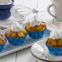 Pineapple Upside Down Cupcakes with Whipped Coconut Cream