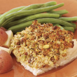 Pistachio-Crusted Cod Fillets