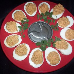 Pizza Stuffed Eggs