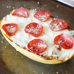 Pizza Stuffed Spaghetti Squash Recipe