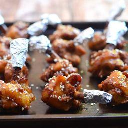 Plum Sauce Chicken Lollipops