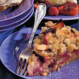 Plum Tart with Marzipan Crumble
