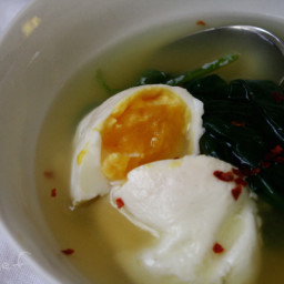 Poached Eggs and Greens Soup