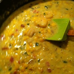 Poblano – Shrimp – Corn Chowder