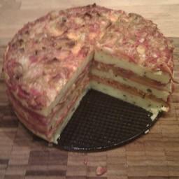 Polenta Savory Layer Cake