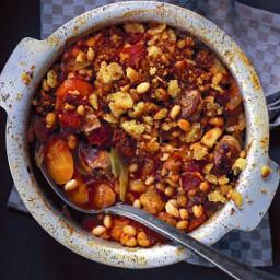 Pork-bean-cassoulet-Toulouse-sausages