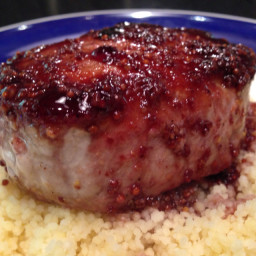 Pork Chops- Black Currant Sauce