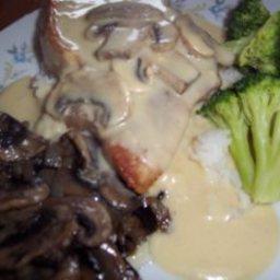 Pork Chops in Creamy Dijon Mushroom Sauce