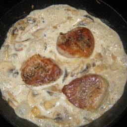 Pork Medallions in Creamy Sage and Onion Sauce