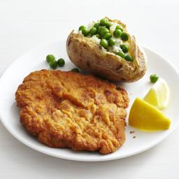 Pork Schnitzel with Cheesy Potatoes