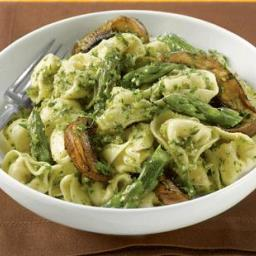 Portobello and Asparagus Pasta