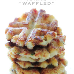 Potaffle (Left over mashed potato waffles)