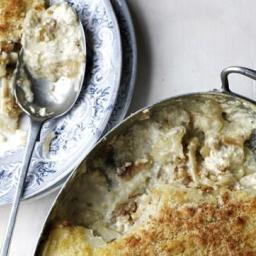 Potato, anchovy and rosemary gratin