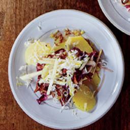Potato-and-Radicchio Salad with Montasio Cheese
