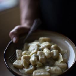 Potato Gnocchi with Gorgonzola Cream