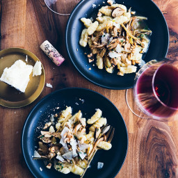 Potato Gnocchi with Wild Mushroom Ragù and Hazelnuts