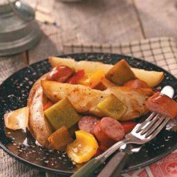 Potato-Sausage Foil Packs Recipe