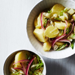 Potato, Snap Pea and Pickle Salad