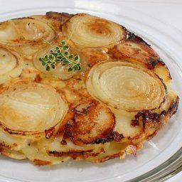 Potato, Walla Walla Onion and Gruyere Galette