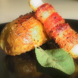 Potatoes Stuffed w/ Bacon & Sage
