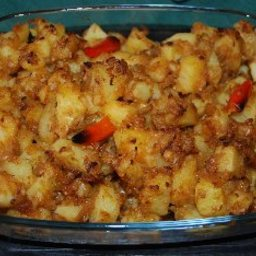Potatoes with Spices & Onions