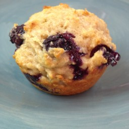 Power Blueberry and Oatmeal Muffins