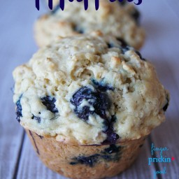 POWER Muffins: Blueberry+Oatmeal+