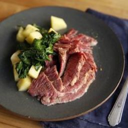 Pressure Cooker Corned Beef Brisket with Charred Cabbage and Dill Vinaigret
