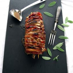 Pressure Cooker Pork Roast with Apples, Coppa and Sage