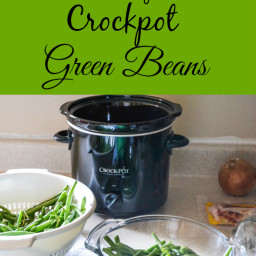 Progressive Dinner: Easy Crock Pot Green Beans | Silpat Giveaway