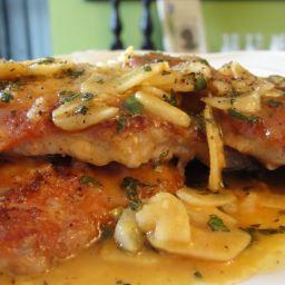 Proscuitto Pork Cutlets with Garlic Sage Lemon Sauce