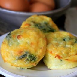 Prosciutto Spinach Egg Cupcakes