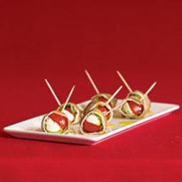 Prosciutto-Wrapped Mozzarella and Basil