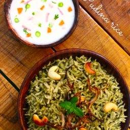Pudina Rice-Spicy mint rice recipe