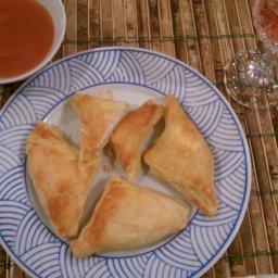 Puff Pastry Crab Rangoon