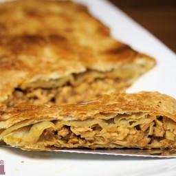 Puff Pastry Tuna Empanada (Molli Morelos sauce)