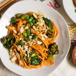 Pumpkin-Almond Butter Red Curry Noodles