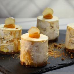 Pumpkin and ginger cheesecake