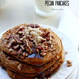Pumpkin Brown Sugar Pecan Pancakes
