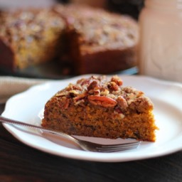 Pumpkin Coffee Cake with Pecan Crumble