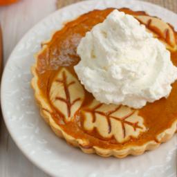 Pumpkin Pie Tarts with Vanilla Bean Whipped Cream