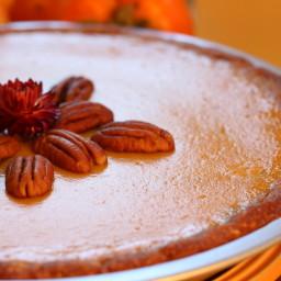 Pumpkin Pie with Pecan and Cashew Crust