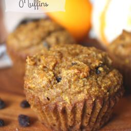Pumpkin Raisin and Orange Muffins