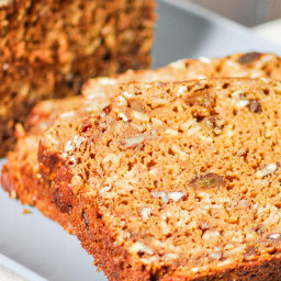 Pumpkin Raisin Nut Bread