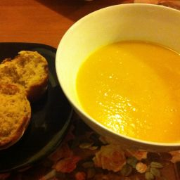 Pumpkin Soup - Lightly Curried