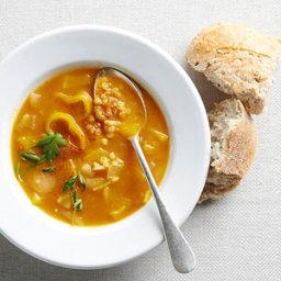 Pumpkin Soup with Lentils