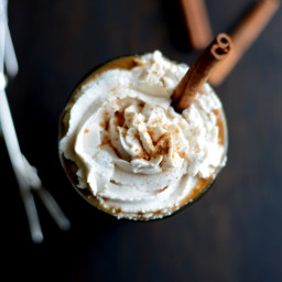Pumpkin Spice Frozen Latte with Vegan Whipped Cream
