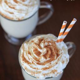 Pumpkin Spice White Hot Chocolate - a Delicious Fall Treat!